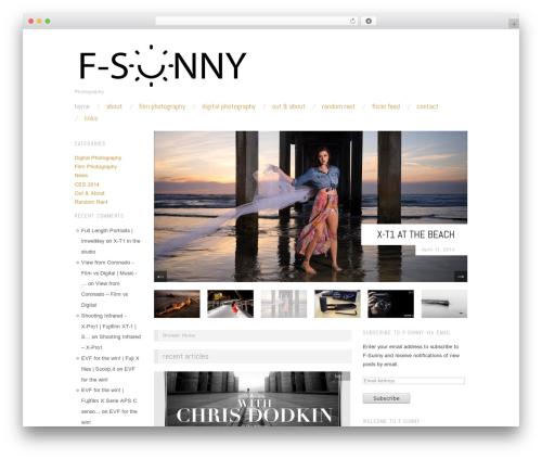 Oxygen WordPress template free download - f-sunny.com