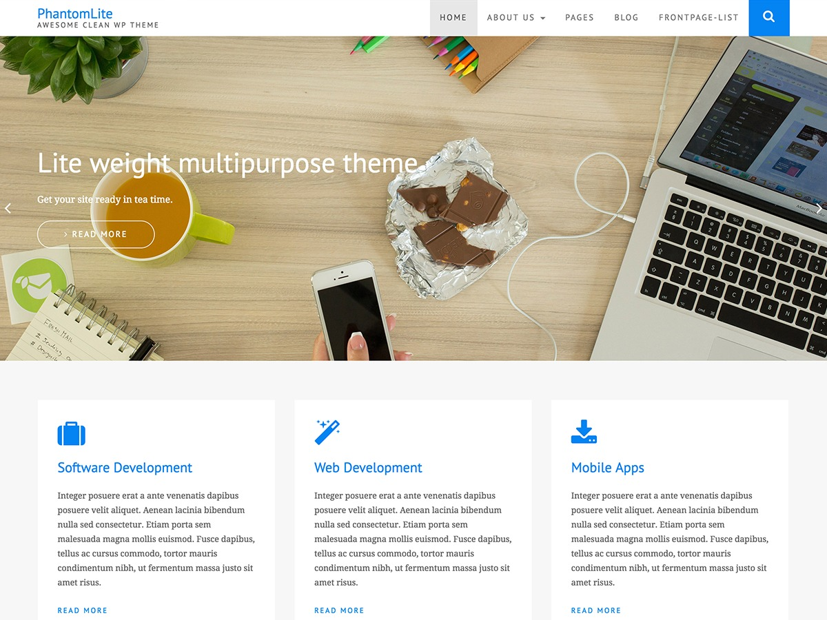 PhantomLite best free WordPress theme