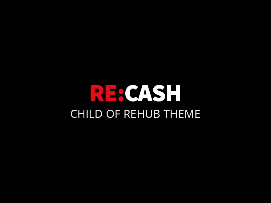 Rehub child theme - Recash newspaper WordPress theme