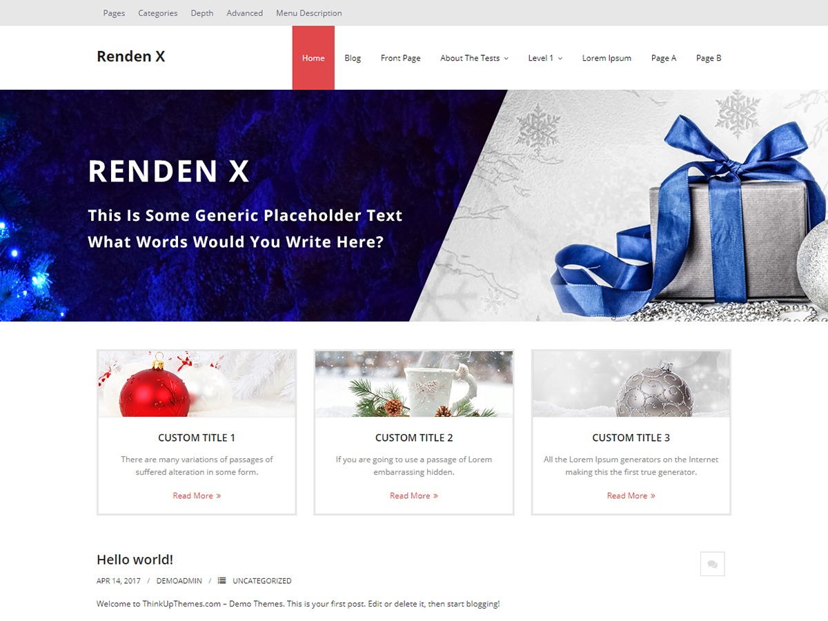Renden X WordPress theme download