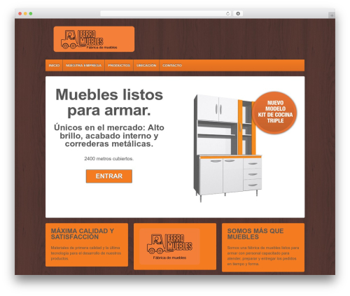 Responsive WordPress page template - ferromuebles.com.ar