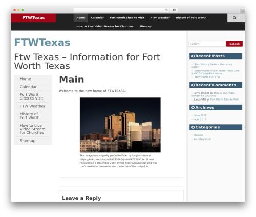 SmartAdapt WordPress theme - ftwtexas.com