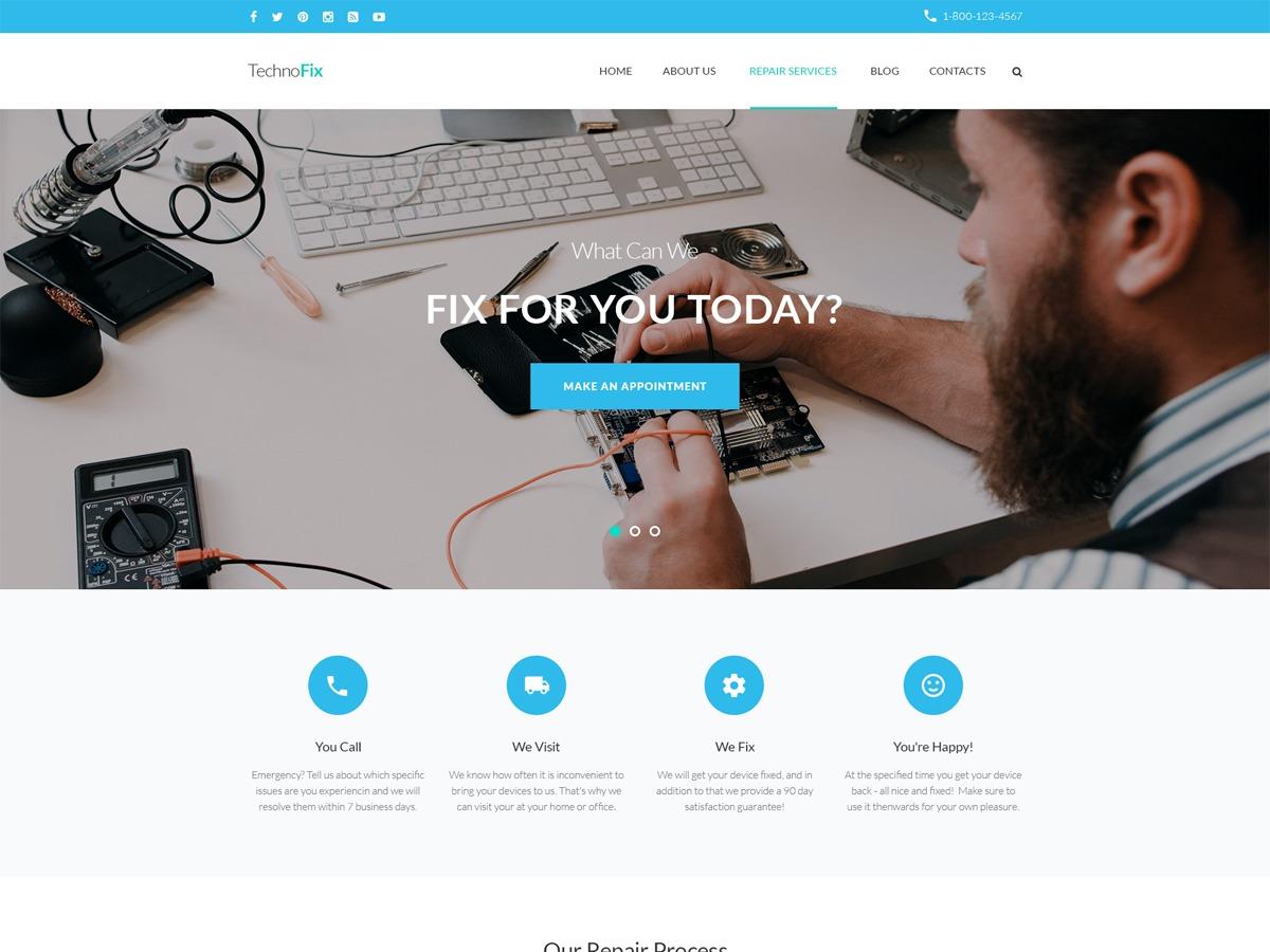 TechnoFix WordPress website template