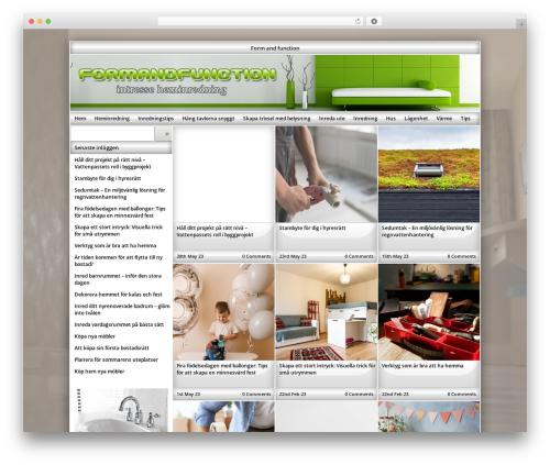 Template WordPress Exact - formandfunction.se
