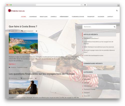 Travel Log free WordPress theme - framboisez-vous.com