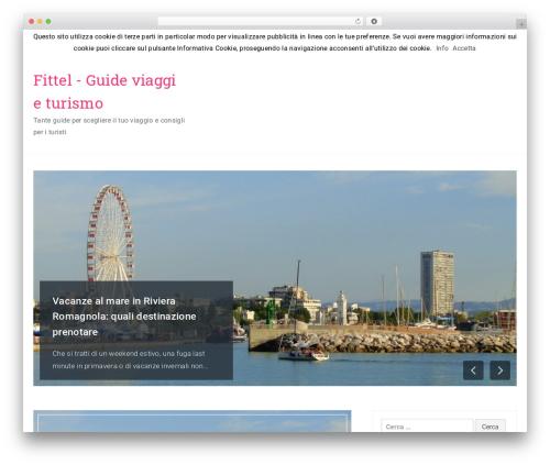 Travelers best free WordPress theme - fittel.it