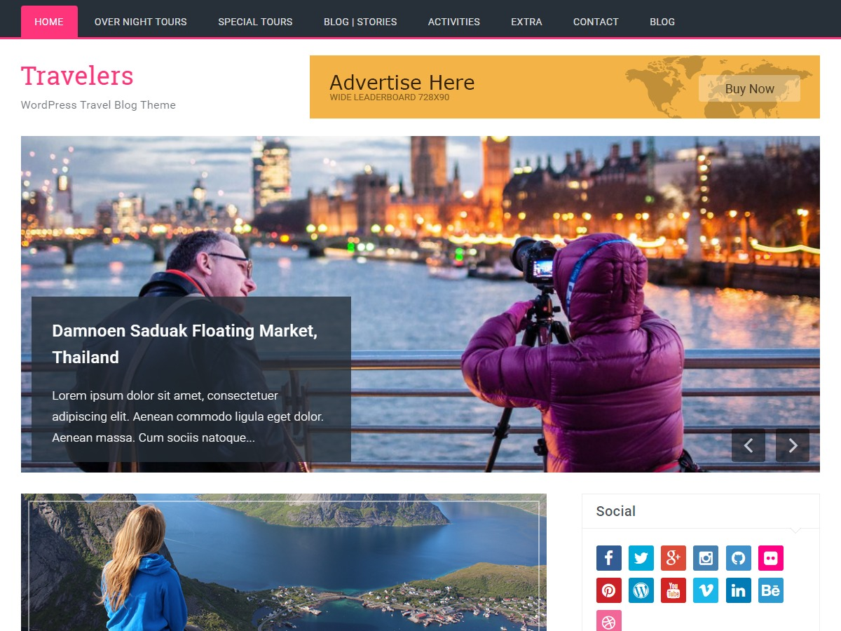 Travelers free WP theme