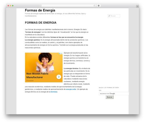 Twenty Eleven template WordPress free - formasdeenergia.com