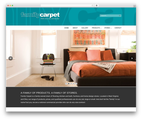 U-Design WordPress website template - familycarpetwv.com