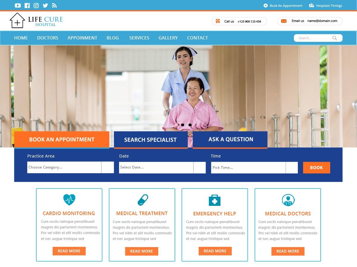 VW Hospital Lite free website theme
