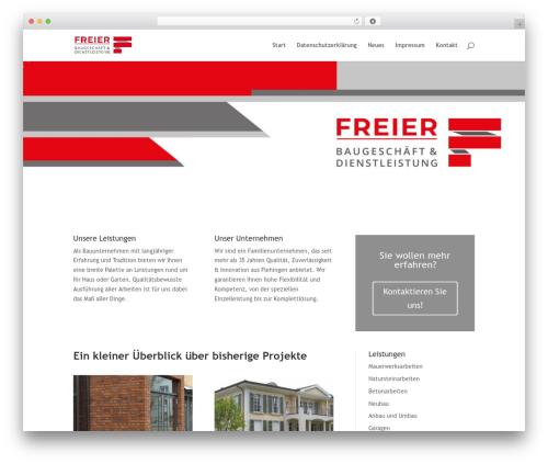 WordPress theme Divi - freier-bau.de