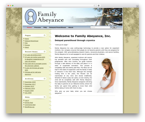 WordPress theme Maple Leaf - familyabeyance.com