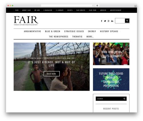 WordPress theme SimpleMag - fairbd.net
