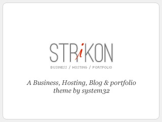 WordPress theme Strikon