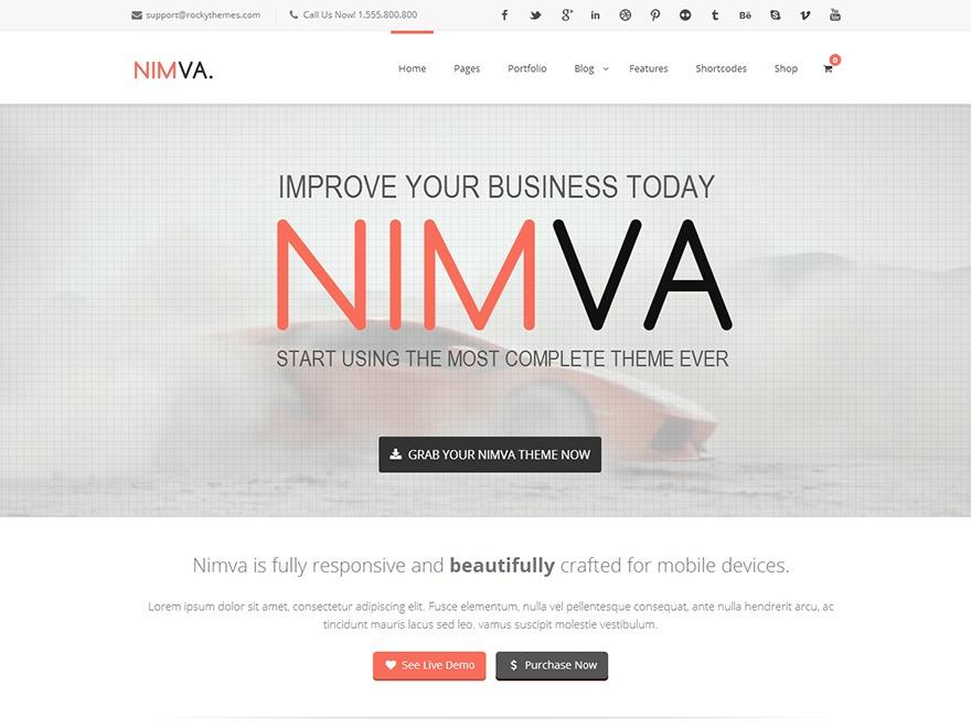 WordPress website template Nimva Child Theme