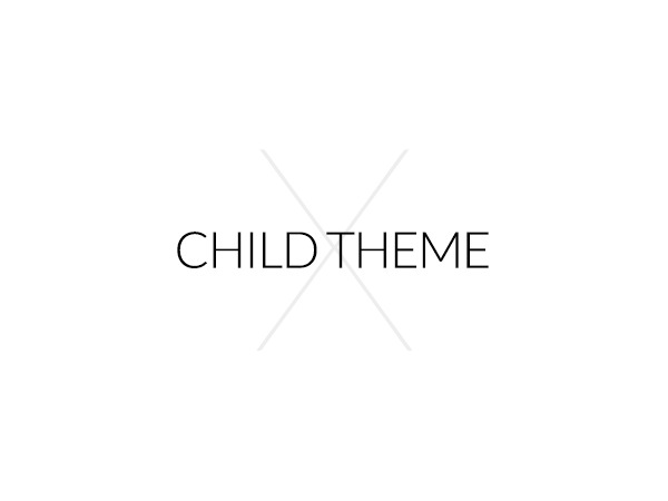 X Child Theme WordPress template