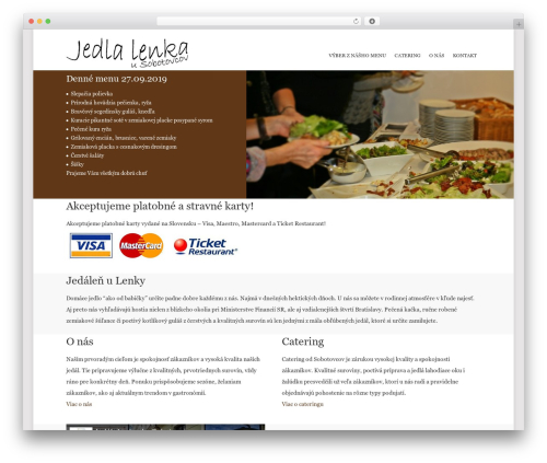 Best WordPress theme Point - jedlalenka.sk
