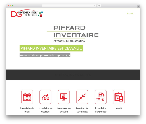 Bridge WordPress theme design - piffardinventaire.com