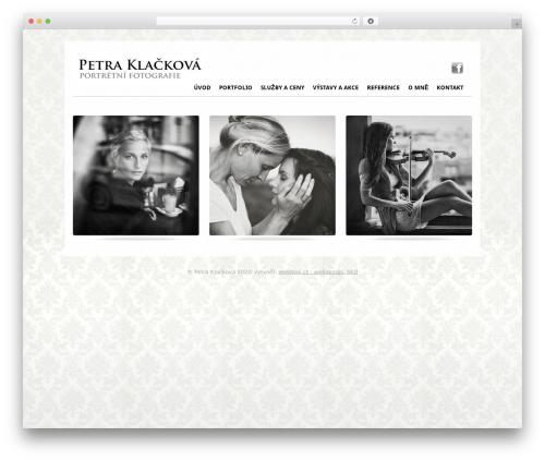 PhotoPassion WordPress Theme WordPress theme design - petraklackova.com