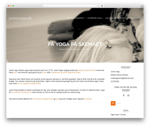 Pinnacle free WP theme - junioryoga.dk