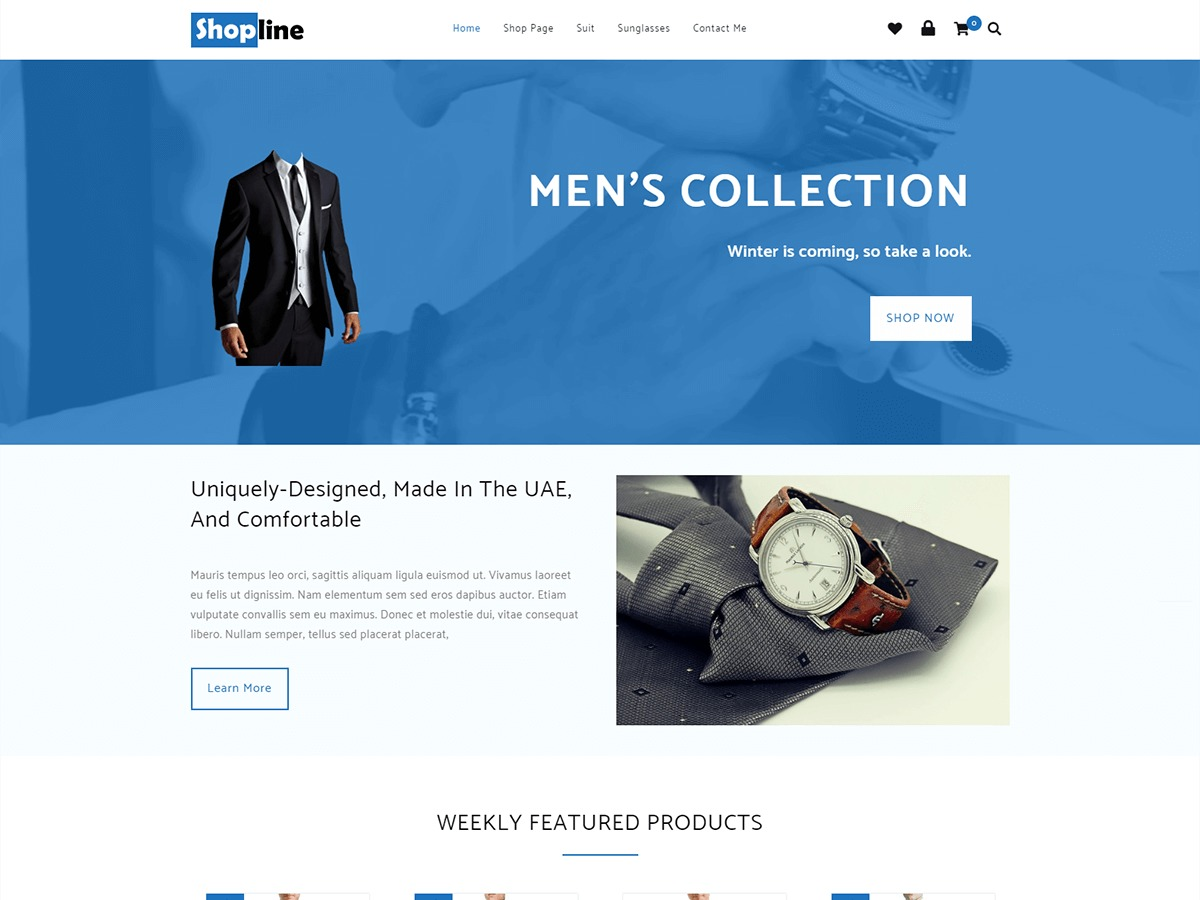 Shopline WordPress shopping theme