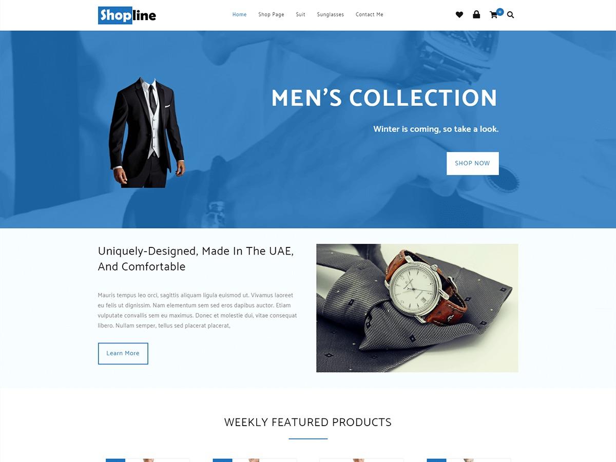 Shopline WordPress shopping theme