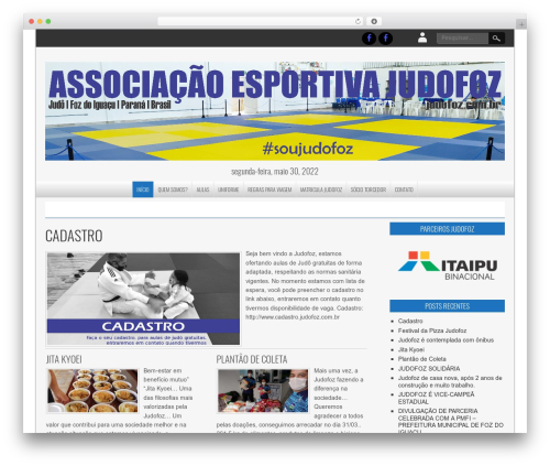 Template WordPress NewsPress Extend - judofoz.com.br