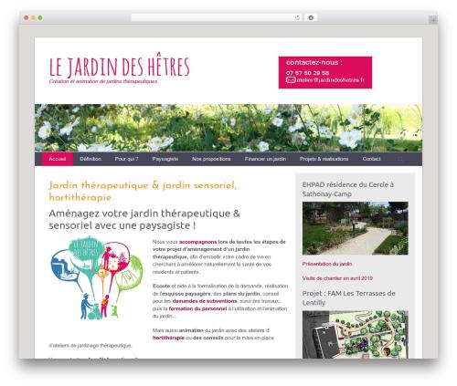 WP theme Catch Base Pro - jardindeshetres.fr