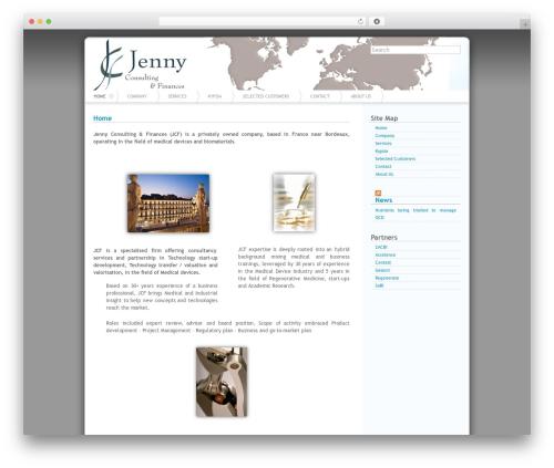 Azul medical WordPress theme - jcf-office.com