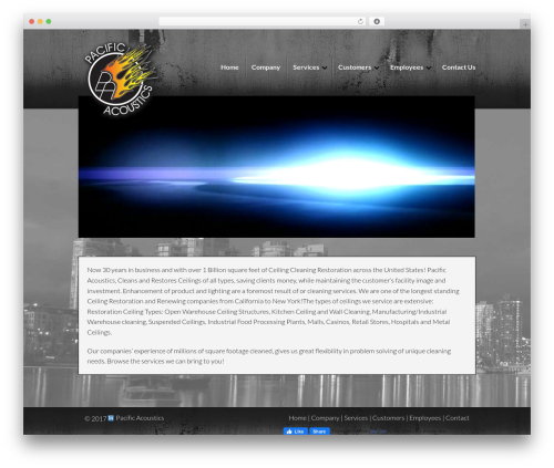 DynamiX WordPress theme - pa-ceilings.com