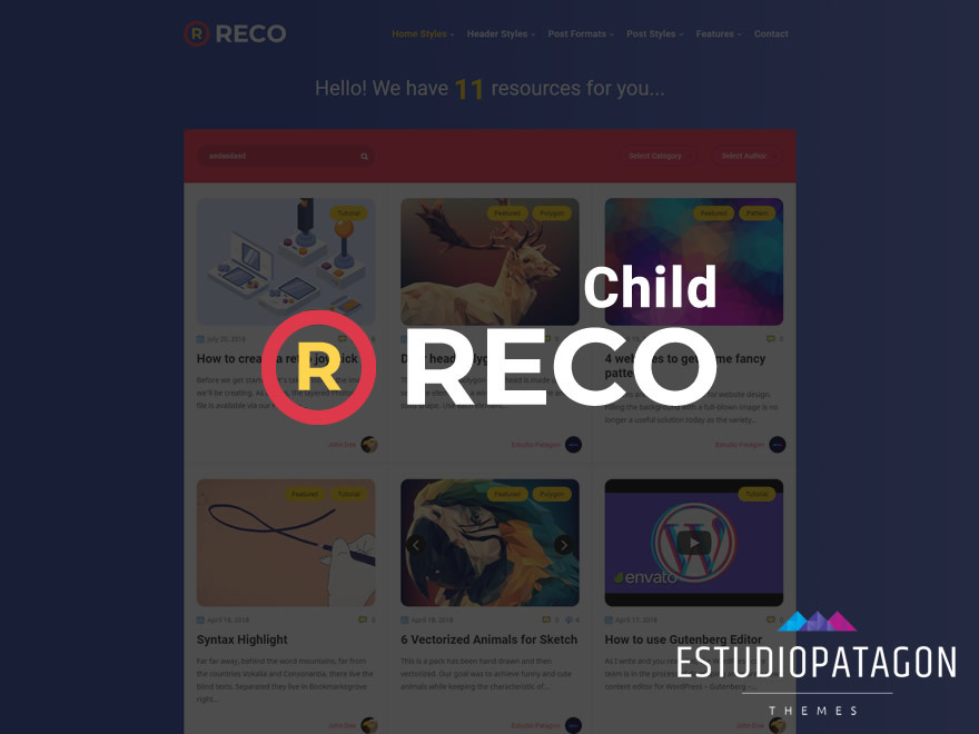 Reco Child WordPress theme