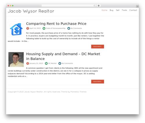Theme WordPress Blanc - jacobwysor.com