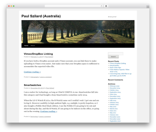 Twenty Ten free WordPress theme - paulszilard.com.au