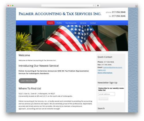 Best WordPress template Customized - palmeraccountingtax.com