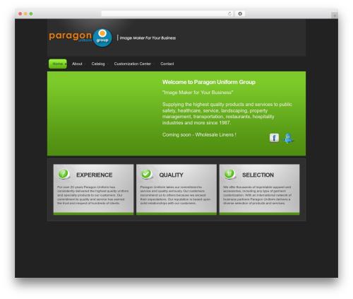 Bravo best WordPress template - paragonuniform.com