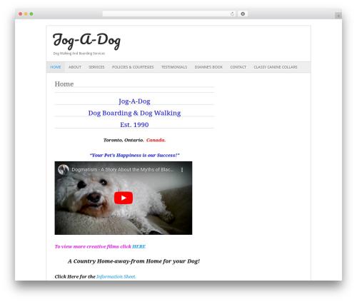 Fresh And Clean top WordPress theme - jogadog.ca