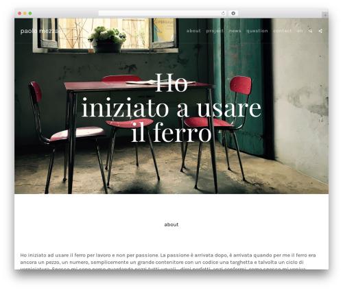 Ibuki WordPress theme - paolomezzadri.com