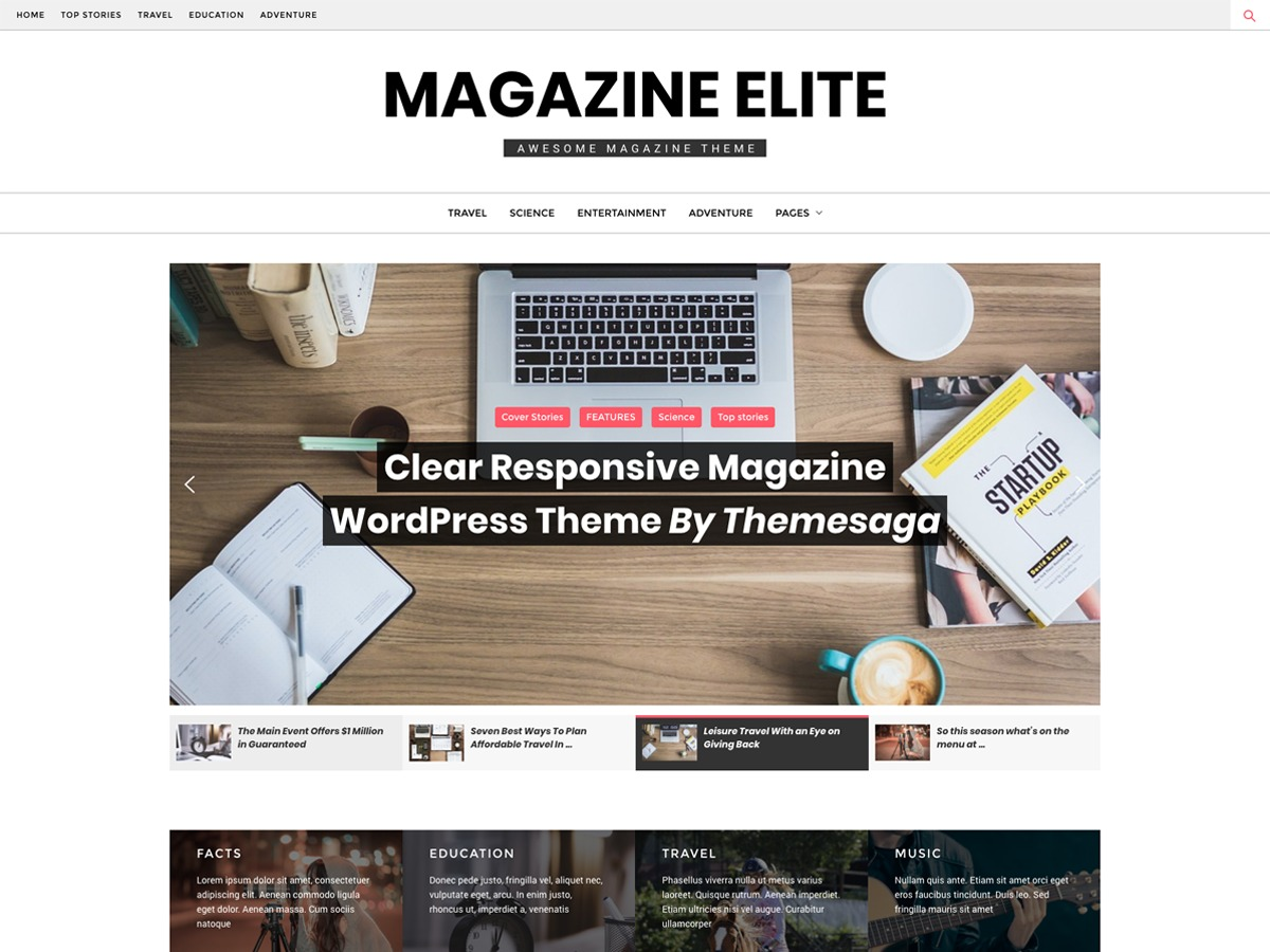 Magazine Elite WordPress news template