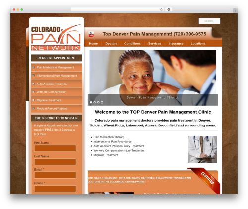 Pain Management Las Vegas theme WordPress - painmanagementdenverco.com