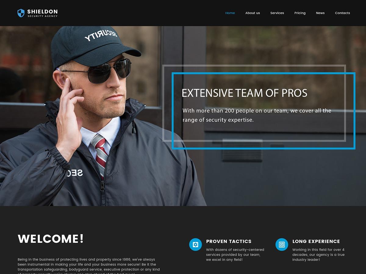 Shieldon WordPress theme