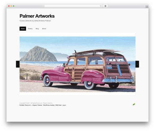 Template WordPress Portfolio - palmerartworks.com