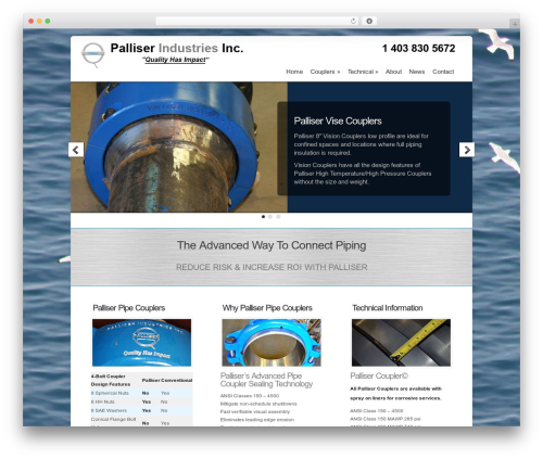 Chameleon WordPress theme - palliserindustries.com