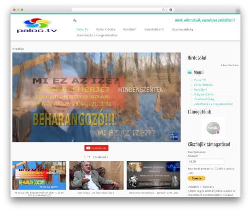 Customizr best free WordPress theme - paloc.tv