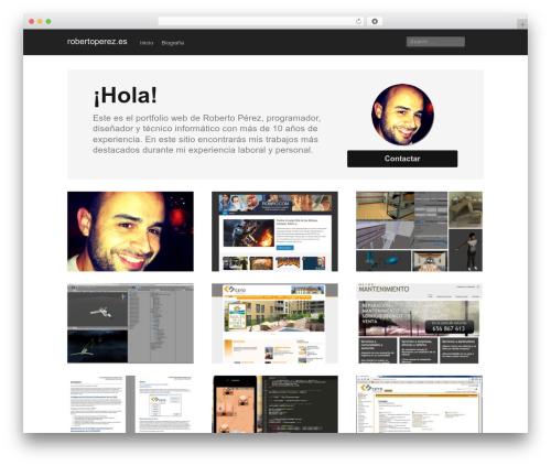 Mixfolio top WordPress theme - personal.robiro.com