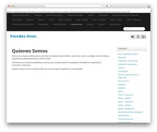 Neuro free WordPress theme - paredeshnos.com