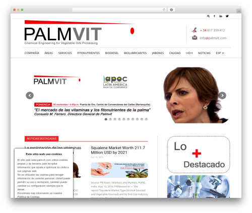 Newspaper top WordPress theme - palmvit.com