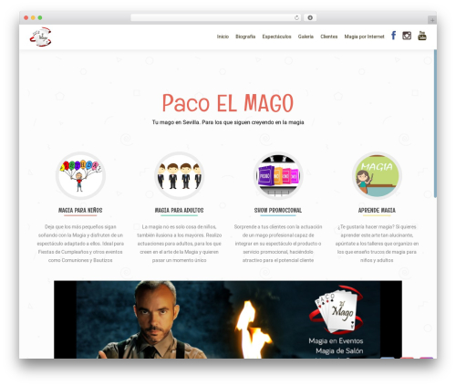 OnePirate free website theme - pacoelmago.es