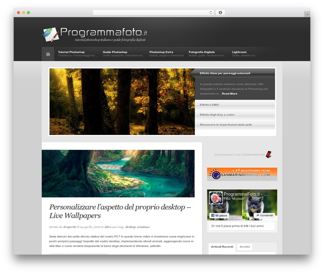 Revolution WordPress shopping theme - programmafoto.it