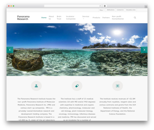 Salient WordPress template for business - pano.com