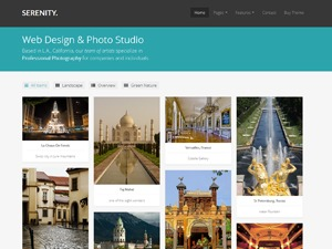 Serenity best portfolio WordPress theme